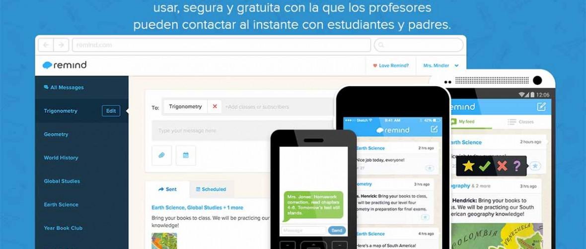 Remind, un Whatsapp para profesores, padres y alumnos